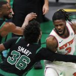 The Knicks destroy the Boston Celtics